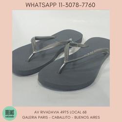 Ojotas Havaianas Originales Slim mujer Plateado  Dreams Calzado Caballito Av Rivadavia 4975 local 68