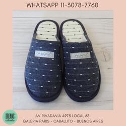 Pantuflas Atupie Chinelas para mujer azul puntitos Dreams  Calzado Caballito Av Rivadavia 4975 local