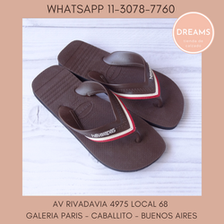 Ojotas Havaianas para Hombre hybrid marron originales Dreams Calzado Caballito Av Rivadavia 4975 Loc
