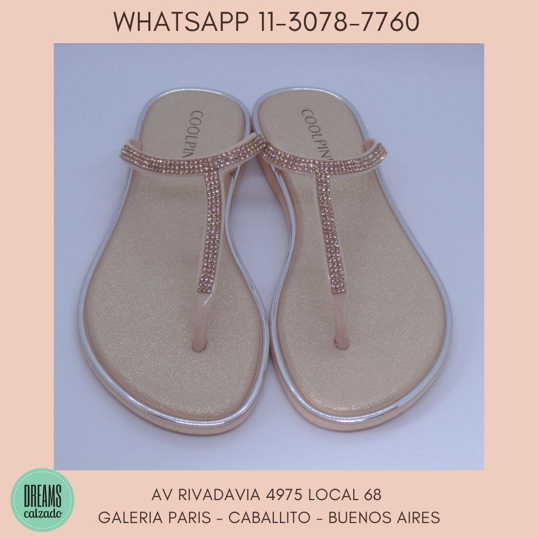 Ojotas Cool Pink Zohe Mujer nude brillos Dreams Calzado Caballito Av Rivadavia 4975 Local 68 Galeria