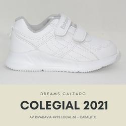 Zapatillas colegiales Botanguita deportivas JACE school blancas abrojo velcro Dreams Calzado Caballi