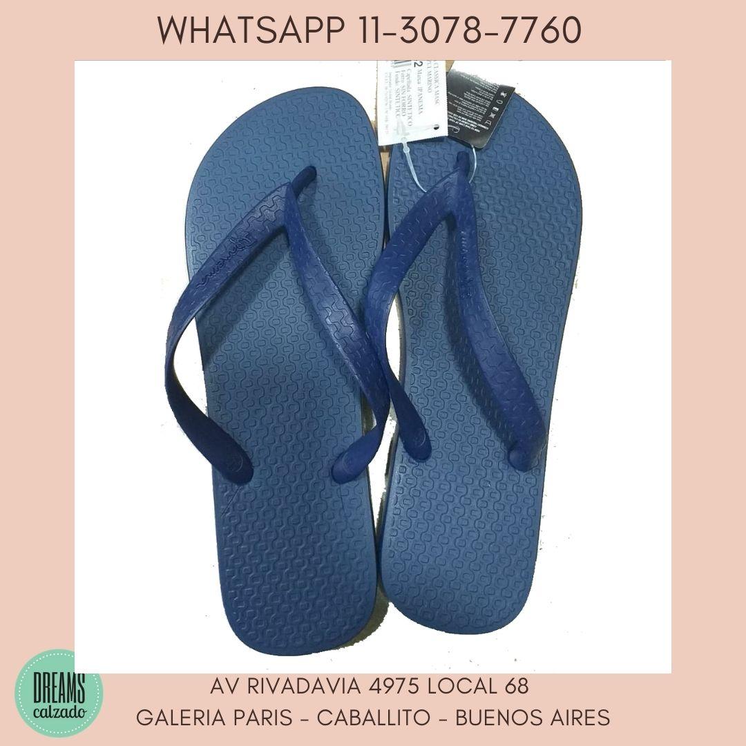 Ojotas Hombre Ipanema azul liso Dreams Calzado Caballito Av Rivadavia 4975 Local 68 Galeria Paris