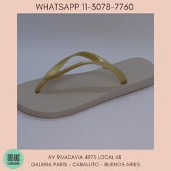 Ojotas Ipanema para mujer lisas beige dorado Dreams Calzado Caballito Av Rivadavia 4975 local 68 Gal