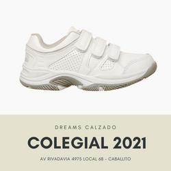 Zapatillas colegiales Marcel deportivas salamanca blancas abrojo velcro Dreams Calzado Caballito Av