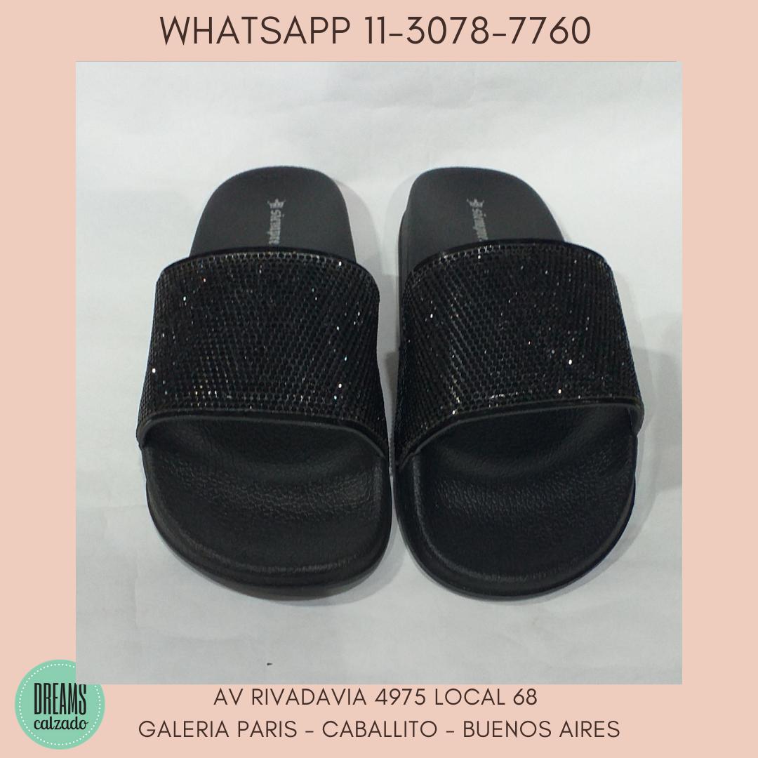 Sandalias de Faja con brillo strass Siempre Reina negro DReams Calzado Caballito Av Rivadavia 4975 l