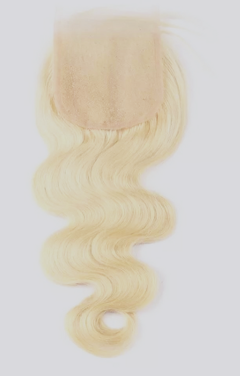Blonde Textured Closures 4X4