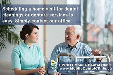 Routine dental cleanings are critical for preventing gum disease and for keeping your teeth. Referring your patients to EPICITI Mobile Dental Care is easy. Get in touch with our office or complete a referral form online. Dental cleaning services available for seniors in retirement homes and long-term care centers in Toronto and Barrie area.