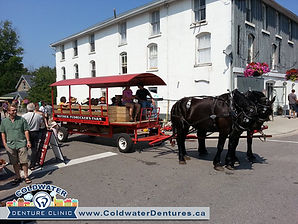 During the Coldwater Steampunk Festival, you can see the village of Coldwater on foot or on buggy.