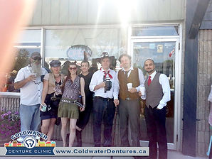 Coldwater Steampunk. Visitors from Orillia, Barrie, Midland and surrounding areas all came out for a spectacular day. Our team at Coldwater Denture Clinic always looks forward to this event. We have two convenient locations. Feel free to drop by our Barrie Denture Clinic to discuss the cost of dentures with our denturist.
