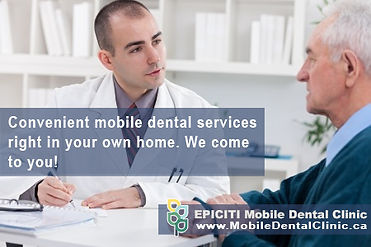 Home care dental services is perfect for anyone who has been hospitalized, recently released from the hospital, or someone who is bedridden due to illness. If you are a health provider and have patients who require in home dental care, keep us in mind.
