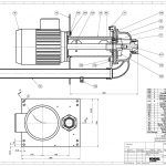 This image shows a technical parts drawing for the KNOLL Version TF40 Pump
