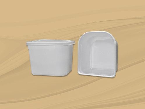 Depósito de plástico blanco de 2,5 l.