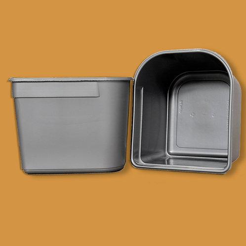 Depósito de plástico gris 2,5 l.