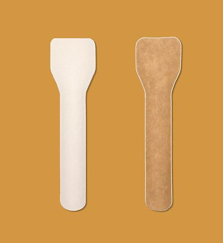Cucharita 95 mm. blanca o craft