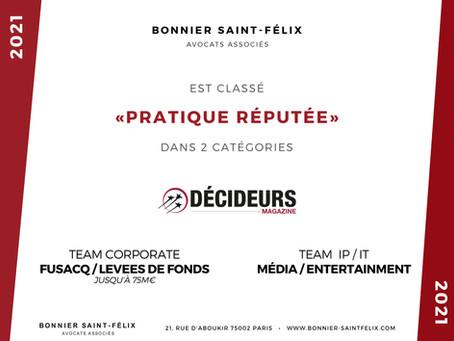 Bonnier Saint-Félix récompensé