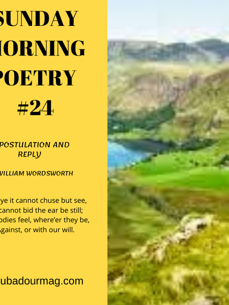 Expostulation and Reply by William Wordsworth