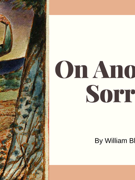 On Another's Sorrow by William Blake