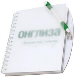 Корпоративный блокнот с ручкой с логотипом