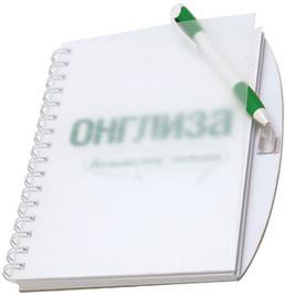оригинальный блокнот с ручкой