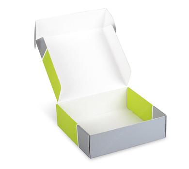 самосборная коробка из мгк на заказ с печатью