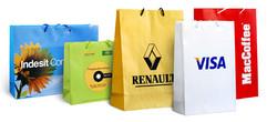 Бумажные пакеты из мелованной бумаги с матовой ламинацией