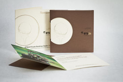 Комплект из приглашения и конверта из дизайнерской бумаги с вырубкой и тиснением