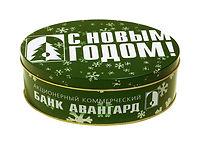 Жестяные коробки и жестяные банки с печатью логотипа, выполненные на заказ по разработанному дизайну в типографии полного цикла BTL print