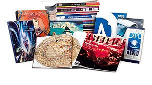 Многостраничная многополосная полиграфия – каталоги, буклеты, журналы, брошюры на клею и пружине, напечатанные по индивидуальному дизайну в фирменном стиле в рекламно-производственной компании BTL print
