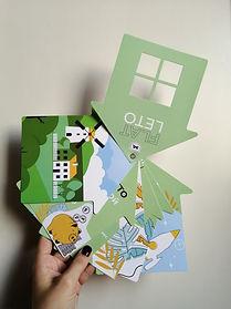 нестандартный и оригинальный вырубной буклет скрепленный на люверс, напечатанный в рекламно-производственной компании BTL print