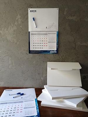 Календари Пиши-Стирай с магнитно-маркерным топом, оригинальный необычный практичный и удобный Магнитный маркерный настенный календарь Пиши Стирай, разработанный по индивидуальному дизайну в рекламно-производственной компании BTL print