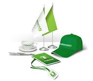Сувениры с логотипом компании по фирменному стилю, изготовленные в рекламно-производственной компании BTL print