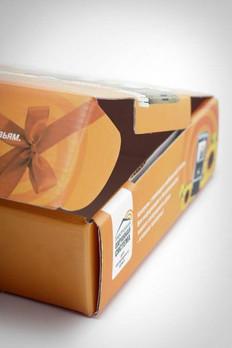 коробки из микрогофрокартона с печатью на заказ изготовленные в типографии полного цикла BTL print