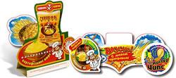 Вобблеры и тейбл-тенты с печатью логотипа