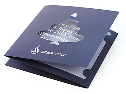 корпоративные новогодние открытки с логотипом на заказ