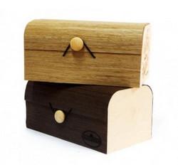 Деревянная упаковка из шпона с печатью логотипа