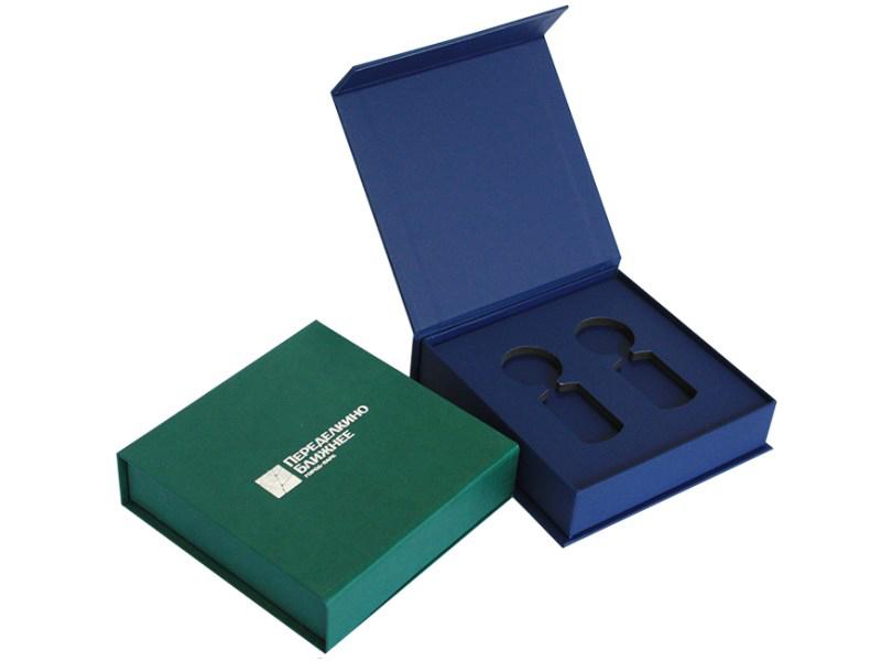 Коробки-шкатулки из переплетного каппа картона с ложементом