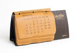 необычный дорогой премиум календарь из кожи
