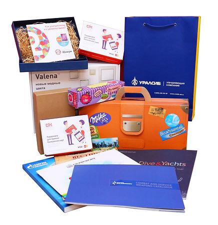 Полиграфия, изготовленная на заказ в рекламно-производственной компании BTL print. Образцы дизайна и печати полиграфии, выполненные в типографии полного цикла BTL print. Бумажный пакет, каталог продукции, рекламные буклеты, брошюры, коробка с бумажным наполнителем, коробка из микрогофрокартона с кашировкой, коробка-чемодан, картонная коробка, коробка крышка-дно, самосборная кашированная коробка