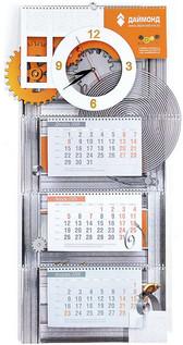 оригинальный и необычный квартальный календарь с вырубкой