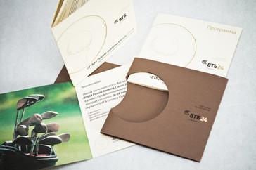 дизайн и печать приглашения с тиснением и вырубкой из дизайнерской бумаги