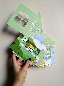 нестандартный и оригинальный буклет с вырубкой и на люверсе, напечатанный в типографии полного цикла BTL print