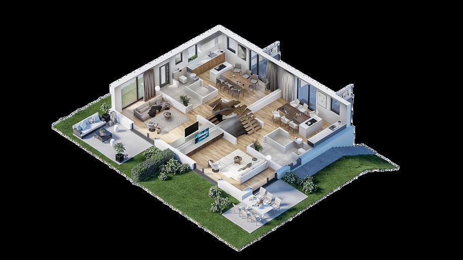 Erdgeschoss (3D-Grundriss)