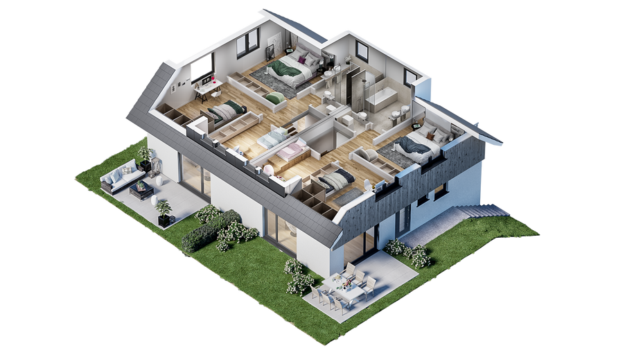 Obergeschoss (3D-Grundriss)