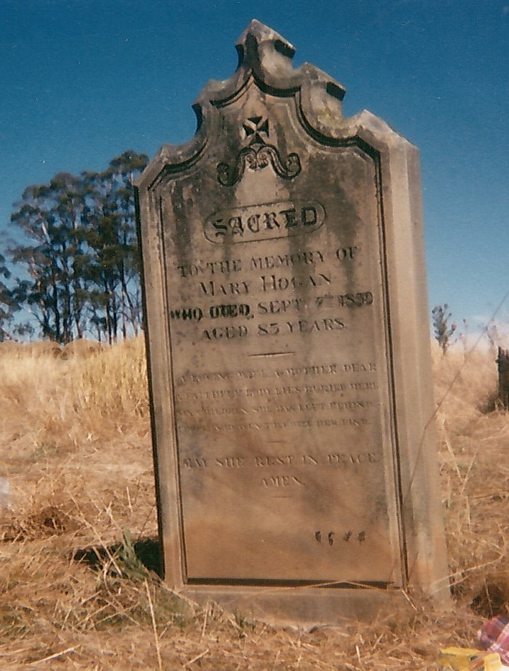 Mary Hogan's Headstone Black Springs Her