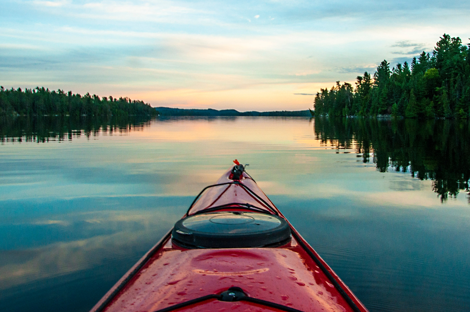 Tranquility of a summer evening paddle