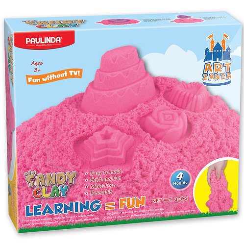 Sandy Clay Cake Pink Color 300g