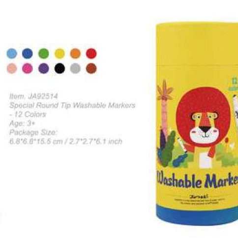Washable Markers - 12 pcs