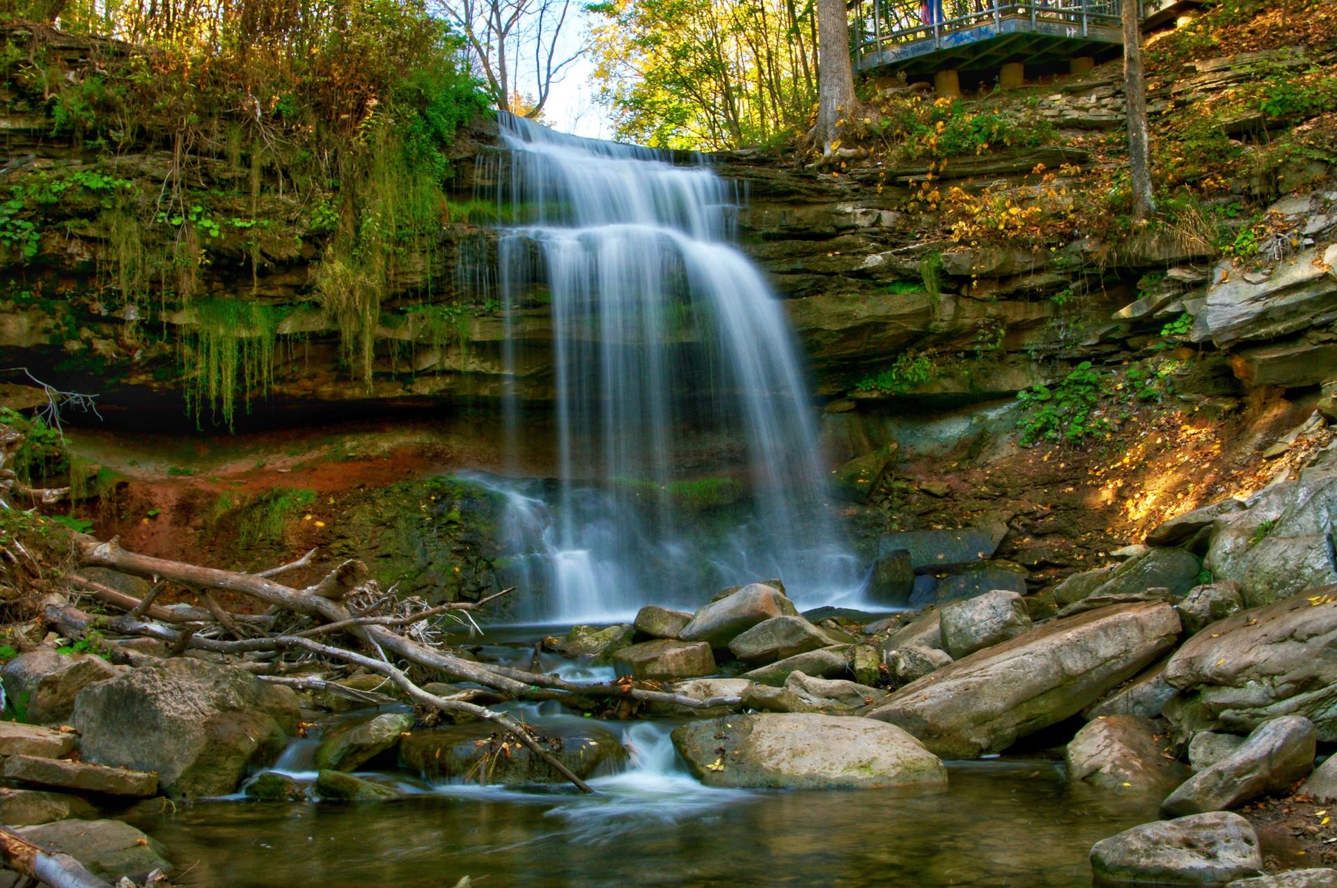 Smokey Hollows Waterfall in Waterdown, Ontario