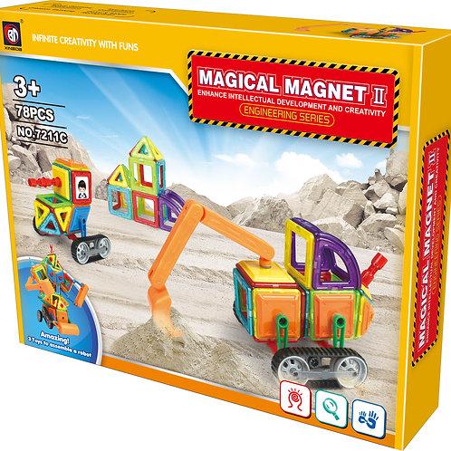 78 PCS MAGNETIC BLOCK ENGINEERING CAR