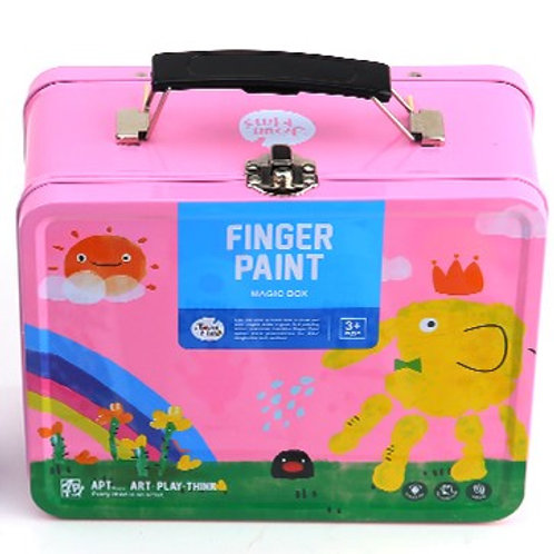 Childrens Finger Paint Kit - Pink